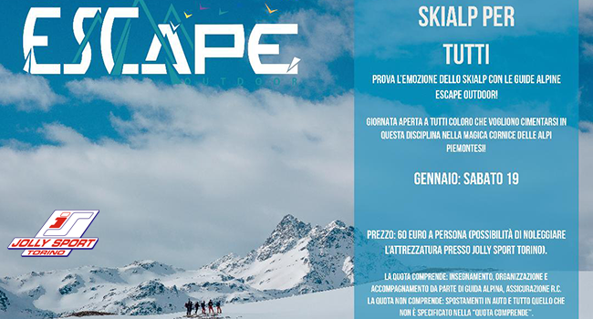 escape outdoor skialp per tutti
