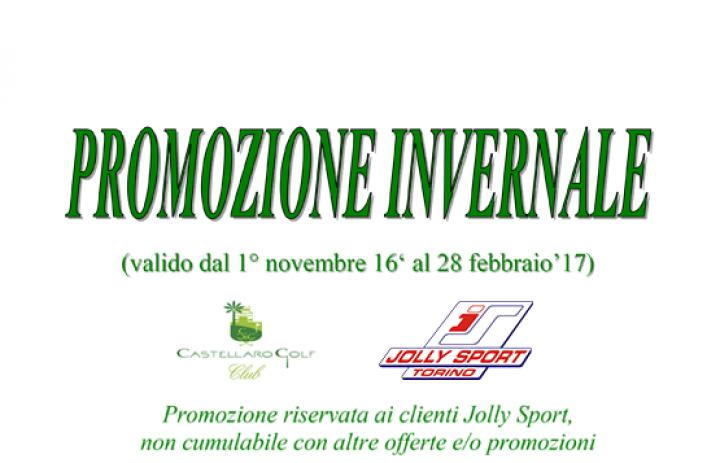 promozione invernale castellaro golf per Jolly sport